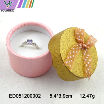 Custom Logo Colored Jewelry Ring Boxes Ribbon Bow