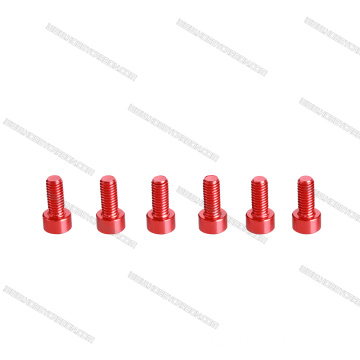 Hardware precision anodized Aluminum machine Screw