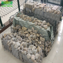 PVC hexagonal mesh gabion box galvanized stone fence