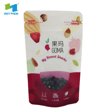 plastic flexiable stand up foil packaging pouches