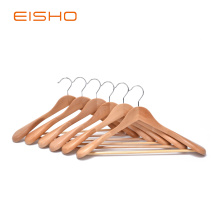 EISHO Quality Luxury Curved Wooden Suit Hangers