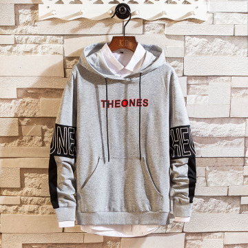 Fashion polyester cotton hooded sweatshirt for men