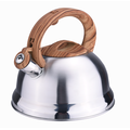 Popular woodlike handle stovetop induction capsulated kettle