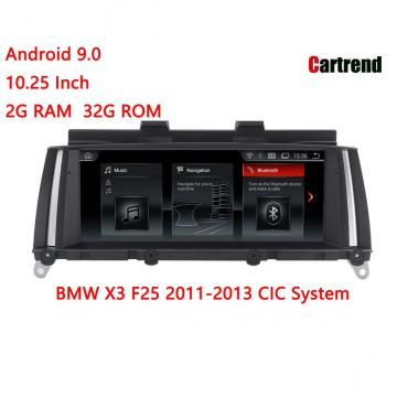 BMW X3 F25 Android 9.0 Navigation radio