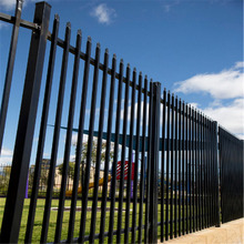 hot dip galvanized steel palisade fence