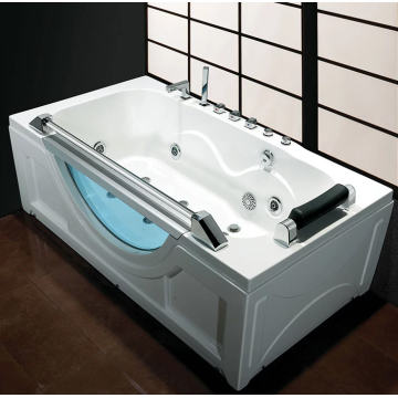 Corner Drain Bath Shower Tub Combo