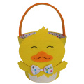 Easter basket with 3D chick modeling