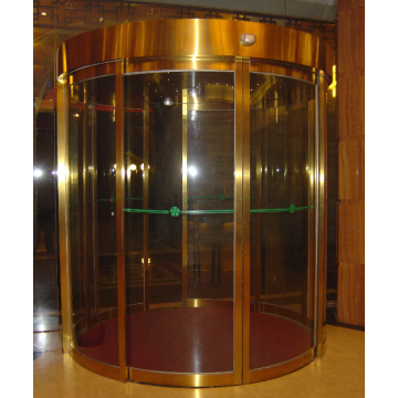 Circular automatic glass curved sliding door for business