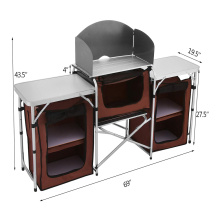 Multifunctional Lower organizer Camping Kitchen Table