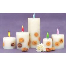 Decorative taper candles cheap unscented pillar candles