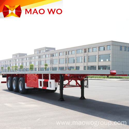 Tri Axle Flatbed Container Semi Trailer for Sale
