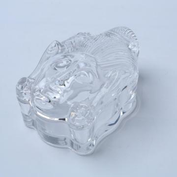 Unique Buddha Shape Clear Glass Candy /Jewelry Jar