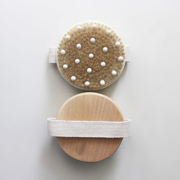 Wooden Massage Round Bath Brush