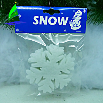 New design artificial decorative Christmas white snowflake