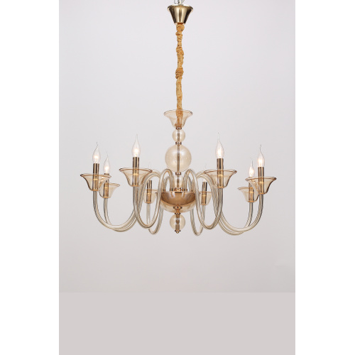 Modern Creative Living Room Champagne Gold Chandelier