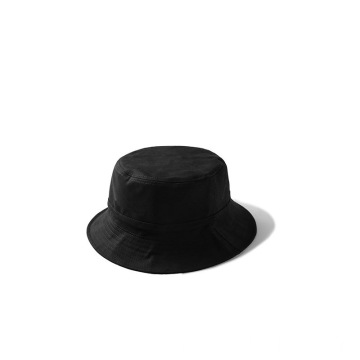Black bucket hat running cap with wide brim