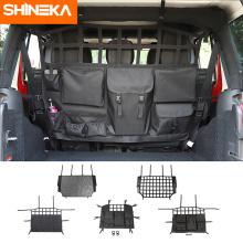 SHINEKA Stowing Tidying For Jeep Wrangler JK JL JT 4-Door Car Seat Back Storage Bag Trunk Accessories For Jeep Wrangler JK JL JT