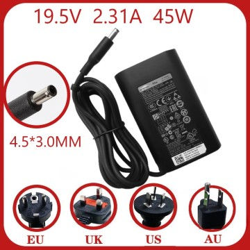 New Genuine 45W 19.5V 2.31A AC Charger for Dell XPS 13 P54G LA45NM140 HA45NM140 Laptop Power Supply Adapter Cord