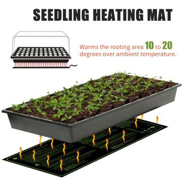17.5W Seedling Heating Mat Durable Waterproof Flowers Fruits Vegetables Digital Heater for Indoor Home Gardening Seed Starter