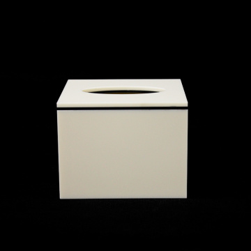 White Acrylic Tissue Box Cover