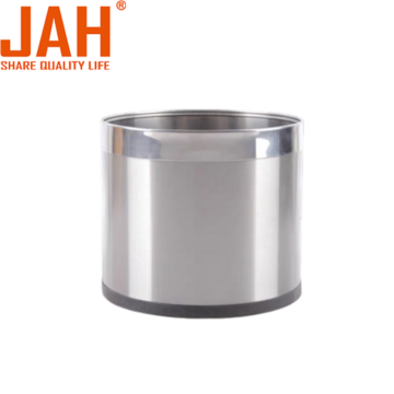 JAH Decorative Metal Small Trash Can Wastepaper Basket