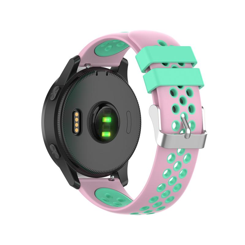 Muiticolor 22mm silicone Watch Strap for Garmin vivoactive4 loop strap watch straps Smart Watch band Accessories without gap