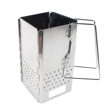 Stainless Steel Portable Charcoal Starter BBQ Grill Foldable Chimney Starter barbecue grill for outdoor WJ51923