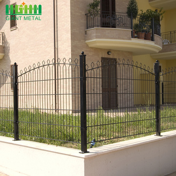 PVC Coated Welded Double Horizontal Wire Prestige Fence