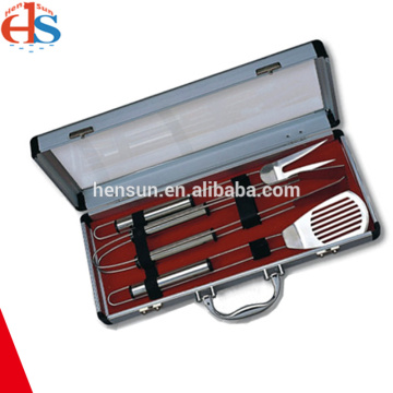 3pcs Barbecue Utensils Set with Aluminum Box