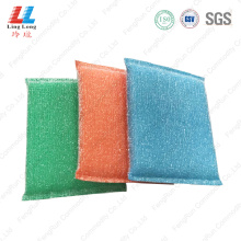 Exfoliating sightly cleaning kitchenware sponge