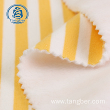 striped wholesale polyester cotton fleece knit fabric