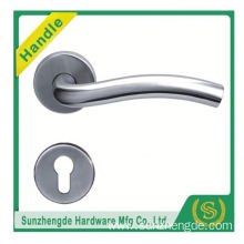 SZD STH-106 Satin Stainless Steel Door Handles Lever On Round Square Rose - Tubular