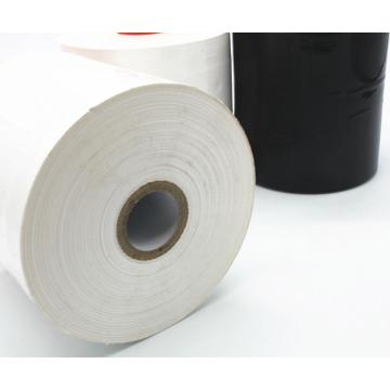 Plastic clear soft LLDPE color handle stretch film