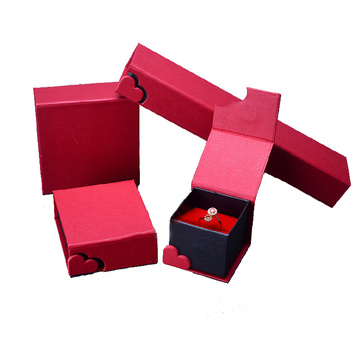 Red Jewelry Gift Box Ring Pendant Bracelet Box