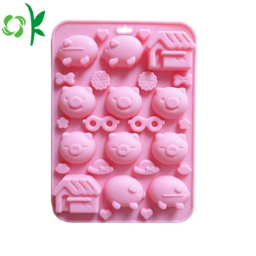Pig Shape 12Cavity Silicone Candy Mold for Chocolate
