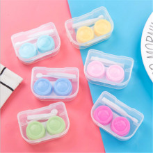 Contact Lens Case Candy Colored Many Styles Eye Contact Lens Box Travel Lens Container Women Invisible Box Eyewear Cleaning