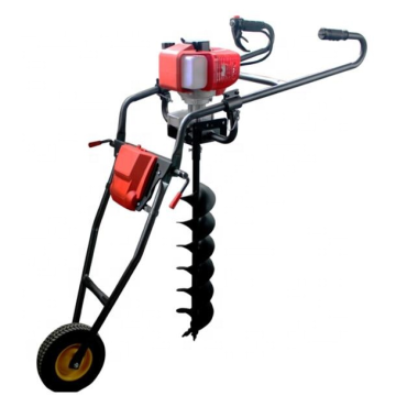 Hand push ground drill earth auger machine