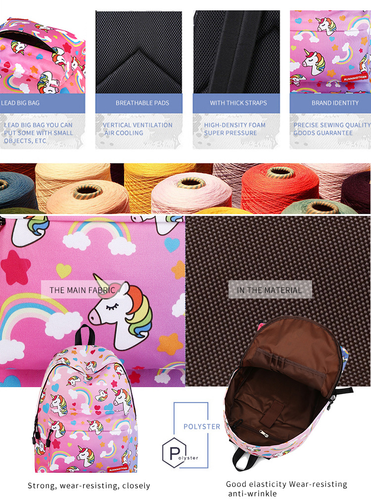 Primary and secondary school unicorn girls backpack 2019 (2)