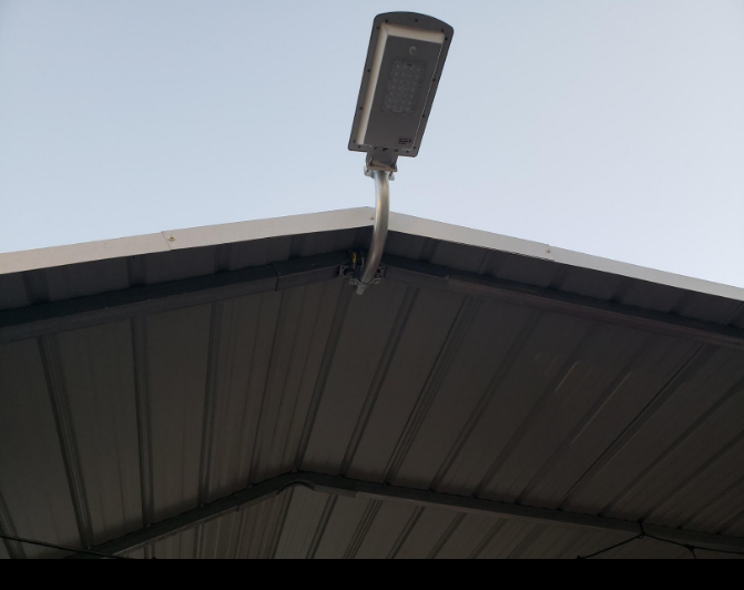 Solar Panel Light Pole