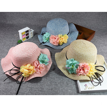 Baby cute summer hat bonnie straw hat