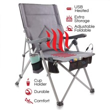 5V POWERED Portable Heated Folding Chair