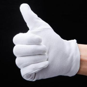 100% Cotton Military Gloves White