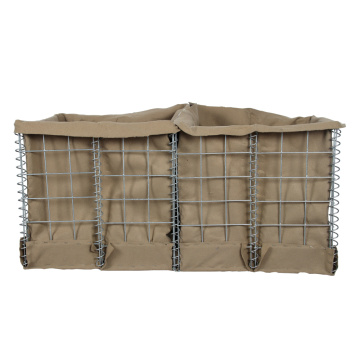 basket retaining wall hesco barrier flood control barrier