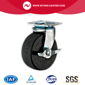 Black Rubber Medium Duty Industrial Caster