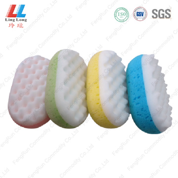 Seaweed 2 sides color bath sponge