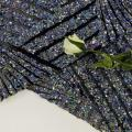 Funnel Sequins Embroidery On Poly Spandex Mesh Fabric