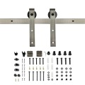 Satin Nickel Fashionable sliding hardware for barn door kits