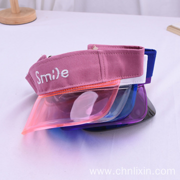 Custom pattern plastic visor caps for infant