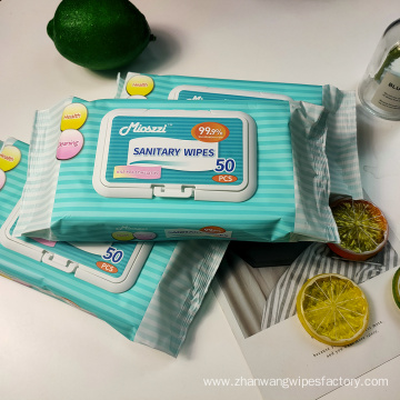 Soft Adults Sanitary Wipes with OEM Logo