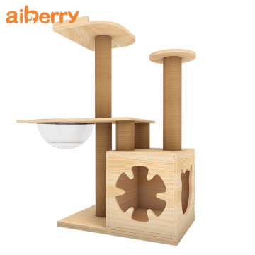 Aiberry Cat Tree Scracher Tower House